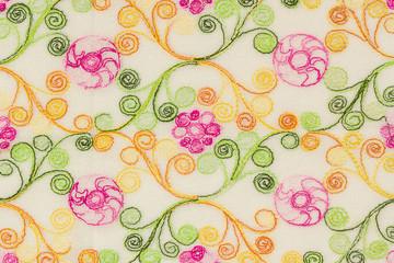 Fabric paint pattern.