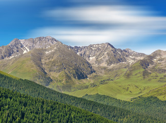 Beautiful mountain landscape in Pyrenees