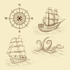 elements for design antique maps