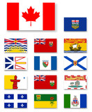 Canadian provinces and territories flags set