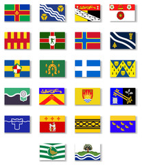 Flags of the counties of England. Set 2