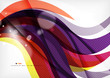 Yellow and purple color lines, abstract background