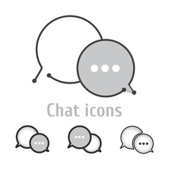 Chat icons,vector,illustration.