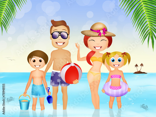 canvas print picture summer holidays