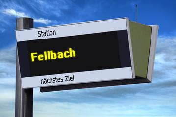 Anzeigetafel 6 - Fellbach