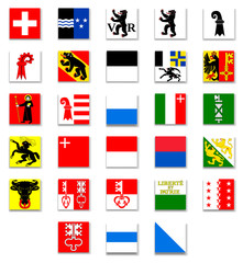 Switzerland Cantonal Flag Collection-Complete