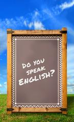 Strassenschild 34 - Do you speak English?