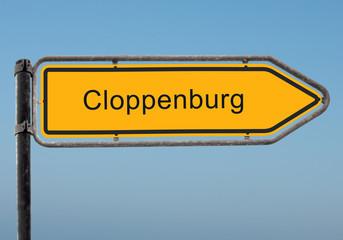 Strassenschild 35 - Cloppenburg