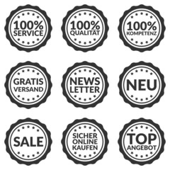 Buttons Web grau