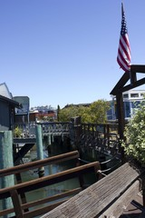 Houseboats in the San Francisco Bay Area