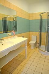 Bathroom interior in a hotel room