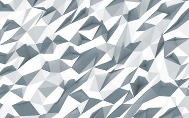3d polygone beau cristaux fond texture blanc