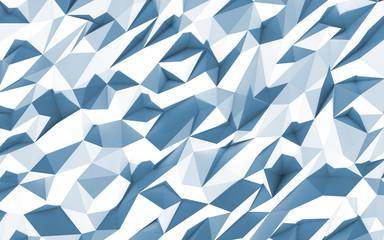3d polygone beau fond cristaux texture bleu