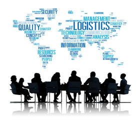 Logistics Management Freight Service Production Concept