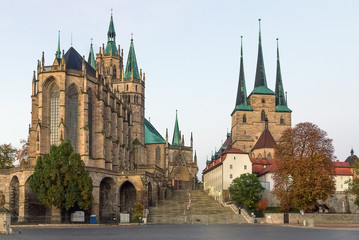 Erfurt Cathedral and Severikirche,Germany