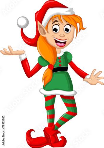 Cute Christmas elf - 78953940