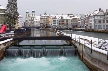 Lucerne in the winter, Switzerland