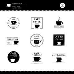 Collection of Coffee shop Logo Design logo for Cafe business