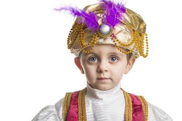Sultan child on white.