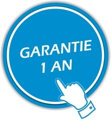 bouton garantie 1 an