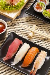The composition of nigiri sushi