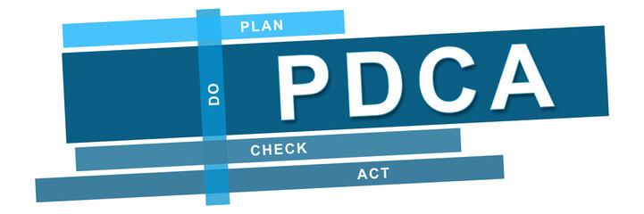 PDCA - Plan Do Check Act Blue Stripes