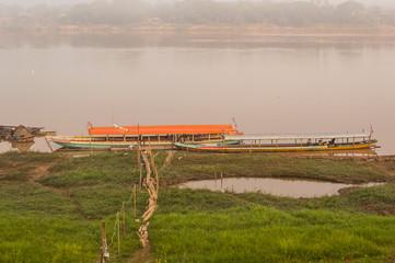 Thai boat in the river