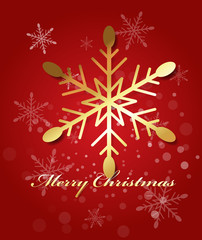 Golden Snowflakes Christmas Background