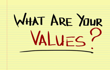 What Are Your Values Concept