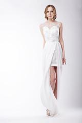 Beautiful Young Woman Wearing Festive Dress