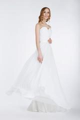 Elegant Bride in Long Bridal Dress