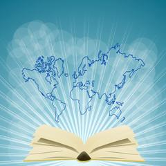 kontynenty i książka