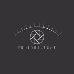 Aperture of the camera as the eye of the photographer site logo