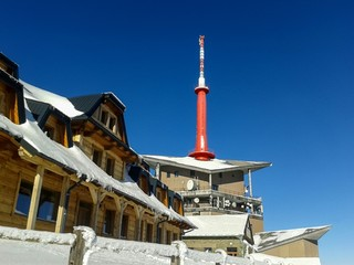Transmitter on Lysa hora in winter
