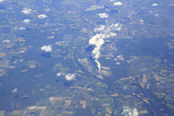 Netherlands from the plane.