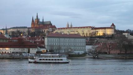 River Vltava,old Prague,  Czech Republic
