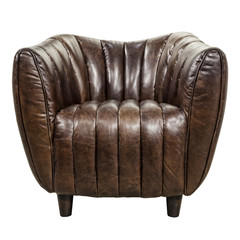 Leather chair isolated on white.