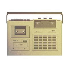 Vintage Vector Old Retro Audio Tape