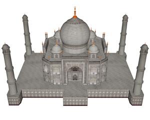 Taj Mahal mausoleum - 3D render