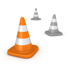 3d rendered traffic cone.