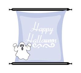 Spooky Ghost Halloween Banner