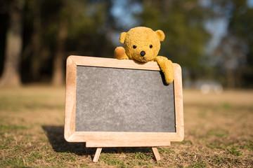 熊の縫い包みと掲示板