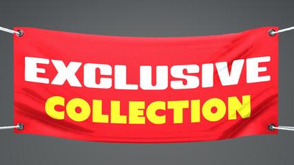 Collezione esclusiva, limitata, striscione pubblicità