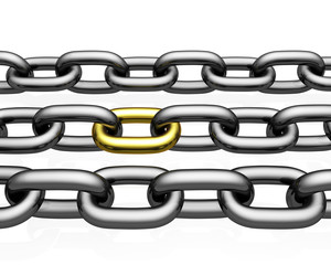 Chain Links   isolated on white background