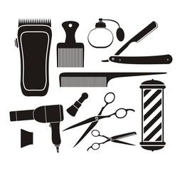 barber shop equipment - pictogram