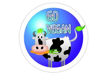 Go Vegan / Sticker - Autoaufkleber - Aufkleber