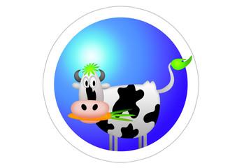 Vegan / Kuh / Sticker / Aufkleber / Autoaufkleber