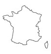 black and white abstract map of France - 78965303