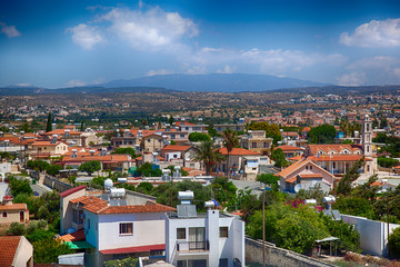 View on Cyprus village. HDR image