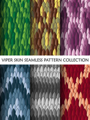 Viper skin seamless pattern collection